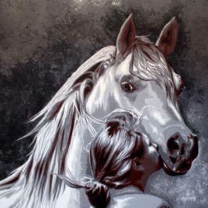 Peinture cheval sur livegalerie for Peinture sur fer a cheval