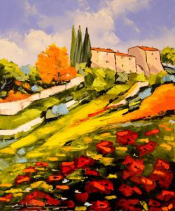 Voir cette oeuvre de JIEL: colors of PROVENCE WITH POPPIES