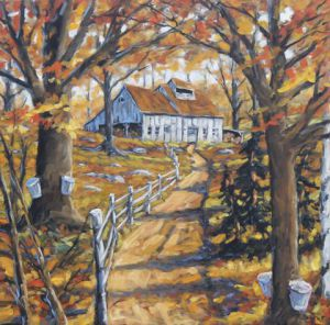 Peinture de Prankearts: Maple Sugar Bush Road