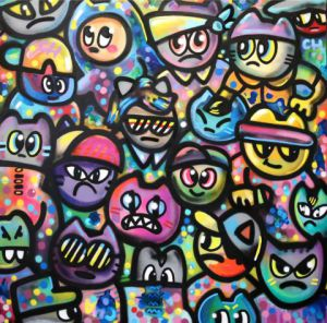 Peinture de CHANOIR: Cats-from-pluton