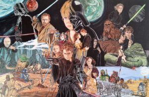Peinture de johann mastil: L'anthologie Star Wars
