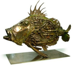 Sculpture de thierry benenati: Poisson aquatique