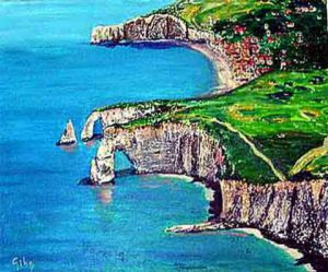 Collage de iridium: etretat