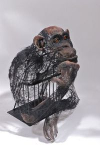 Sculpture de Breval: chimpanzé