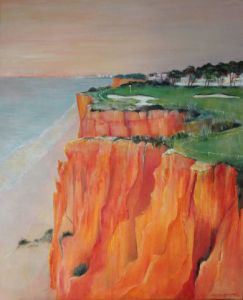 Peinture de Meryl QUIGUER: Cliff top carry-over. Le 16 au Royal