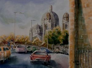 Peinture de CLODEMAR: Marseille, cath�drale La Major