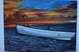2fe60d47e1b3 Voir le détail de cette oeuvre  peinture coucher de soleil à l huile sur