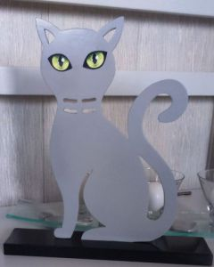 Sculpture de Ddcrea: Chat gris