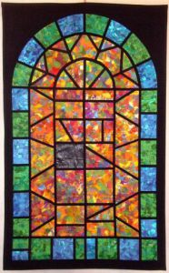 Art_textile de Jean Pierre Avonts-Saint Lager: VITRAIL 1 / GLASS WINDOW 1
