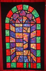 Art_textile de Jean Pierre Avonts-Saint Lager: VITRAIL 2 / GLASS WINDOW 2