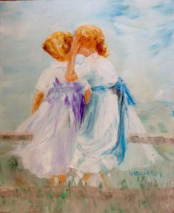 Peinture de Chantal  Urquiza: Confidences intemporellles
