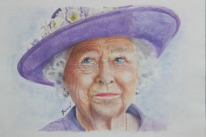 Peinture de Joel Berard : The Queen