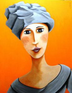 Peinture de LANOE: REGARD ORANGE