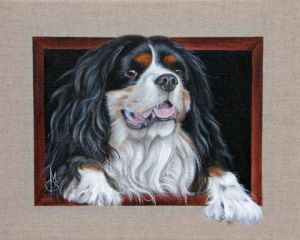 Peinture de Chantal Rousselet: King Charles