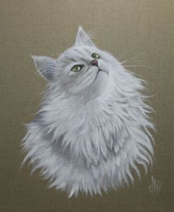 Peinture de Chantal Rousselet: Chat