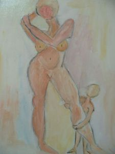 Peinture de soffya: Mother & child