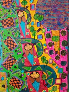 Peinture de Embe: spacial traffic jam