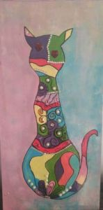 Peinture de ANY: chat