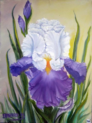 iris bleu blanc peinture edward. Black Bedroom Furniture Sets. Home Design Ideas