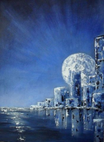 Catherine Thivrier-Forestier - Blue city