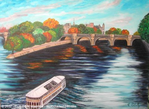 L'artiste Catherine Dutailly - le Pont neuf