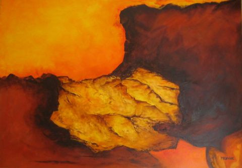 Orange et terre brulee la vallee des masques peinture monik for Peinture orange brule