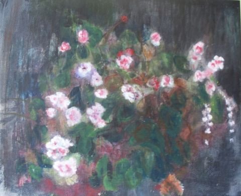 als - fleurs blanches, rose, rouge