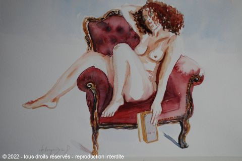 Chantal  Urquiza - sur le sofa