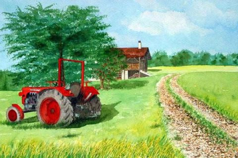 silano - le tracteur rouge