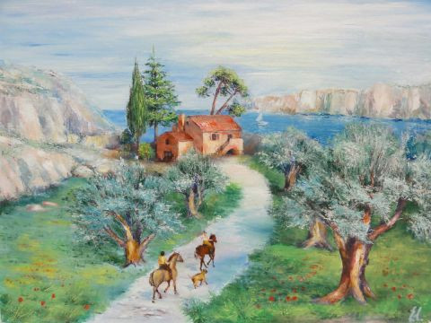 Eugenia - Paysage de provence - oliviers
