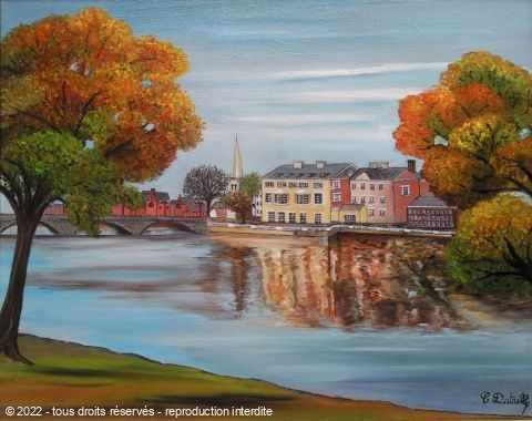 L'artiste Catherine Dutailly - Reflets de Bedford