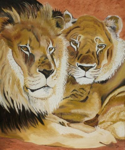 josiane - couple de lion