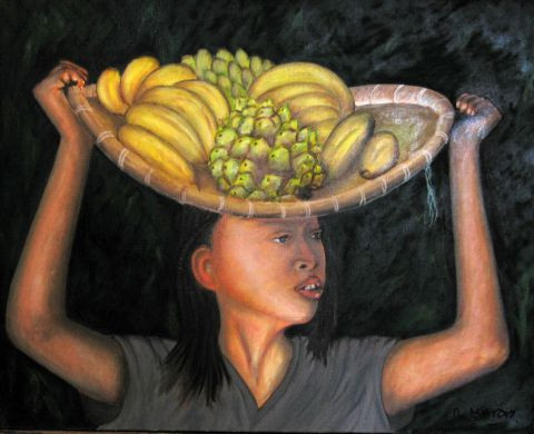 ROGER MARTY - VENDEUSE  DE FRUITS