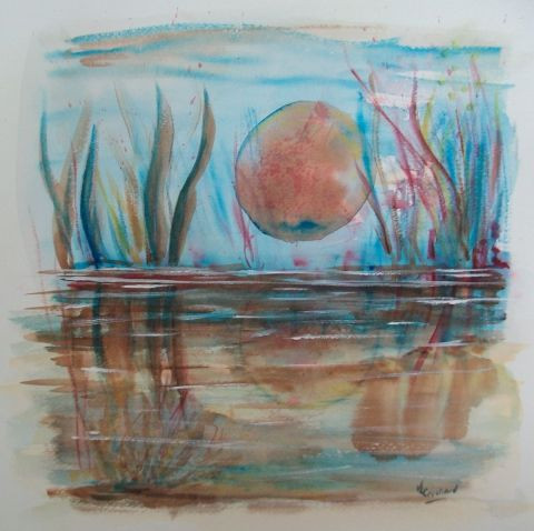 valerie CROCHARD - abstration reflets sur l'eau