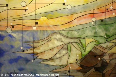 Vertige jaizkibel peinture alain faure for Peinture conceptuelle