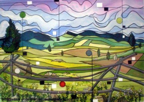 Jardins d 39 evasion peinture alain faure for Peinture conceptuelle