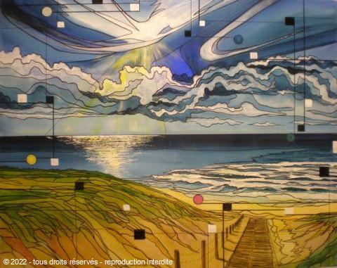 Le deuxieme ocean peinture alain faure for Peinture conceptuelle