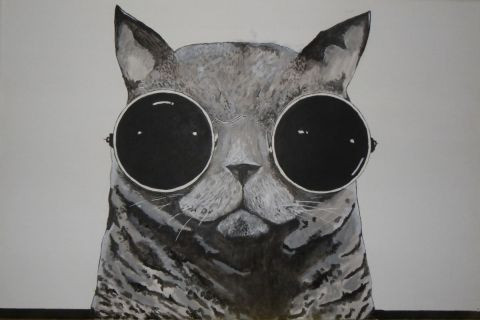 walter PICASSO - psychedelic cat
