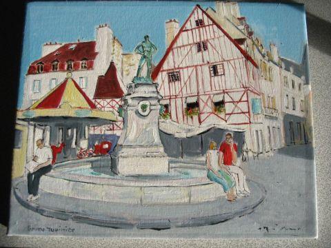 L 39 artiste bruno tupinier place du bareuzai dijon for Peinture isolante phonique dijon