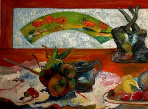 Paoli - Nature morte à l'eventail de Gauguin