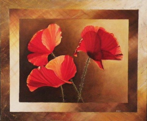 Frank GODILLE - Discussion de coquelicots