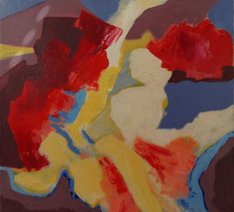 Christiane Jousset - abstraction rouge