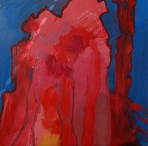 Christiane Jousset - abstraction rouge-2