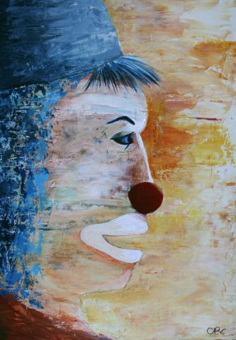 Catherine Renard - Clown bleu