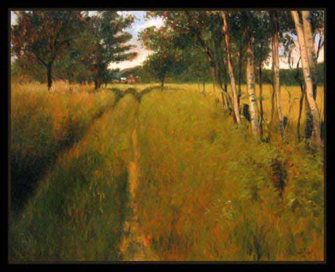 Chemin Hautes Herbes Peinture Jean Louis Courteau