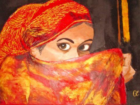 Femme voil e peinture ninico for Peinture chambre femme