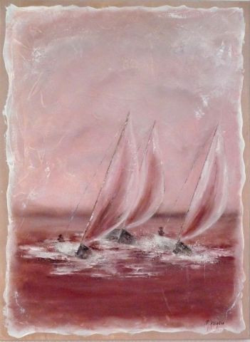 MARTINE GREGOIRE - REGATE EN ROSE