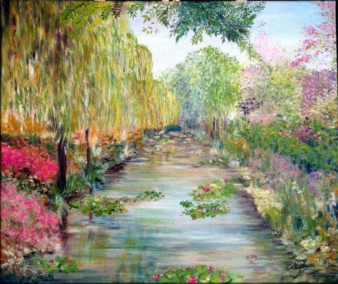 Les jardins de giverny peinture catherine james for Le jardin de catherien
