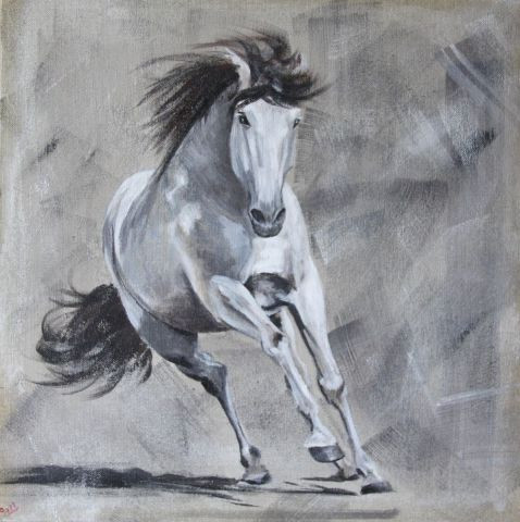GAELLE SOMBSTHAY - le cheval gris