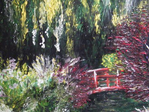 Jardin japonais peinture blueberry - Tableau jardin japonais ...